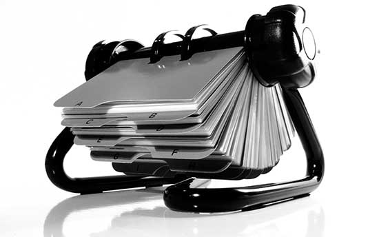 Business rolodex
