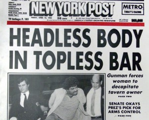 Tabloid headline