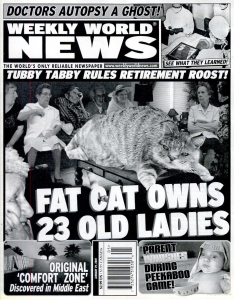 Tabloid front page