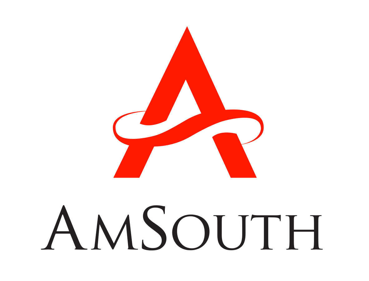 AmSouth logo in red