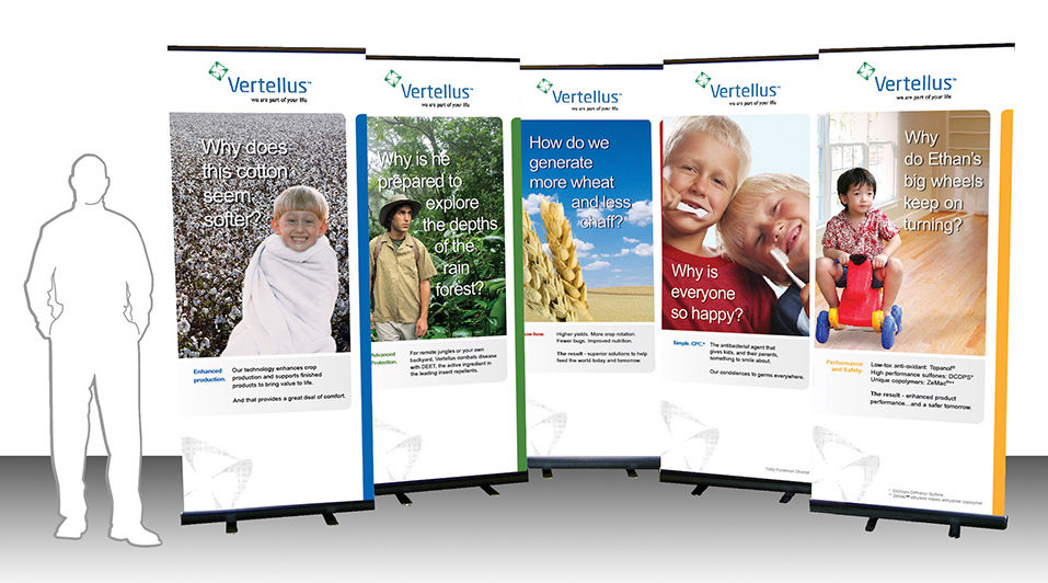 Pull-up tradeshow banners