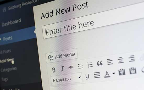 Wordpress post upload screenshot