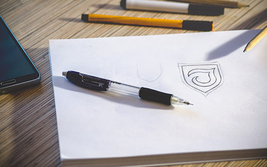 Designing a logo as part of a rebrand
