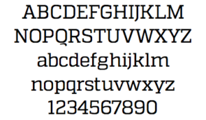 Font family from Attache brand guide