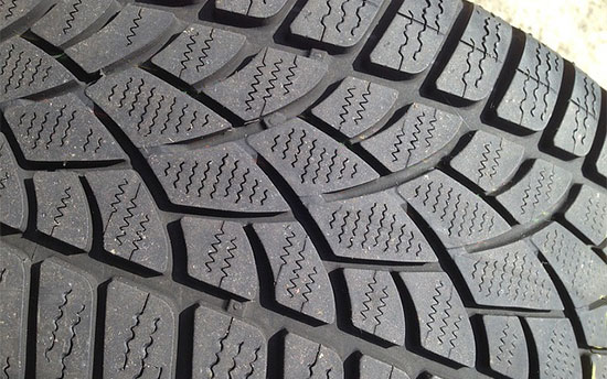 Tire tread illustrating traction