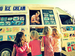 summer ice cream truck