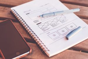 sketch of web site wireframe