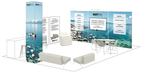 Rendering of tradeshow booth