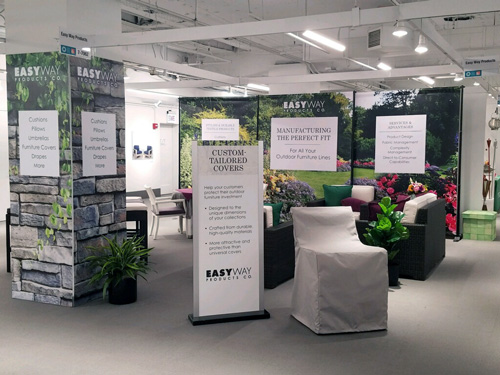 Photo of Easy Way's 2017 tradeshow booth