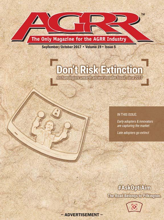 False magazine cover ad