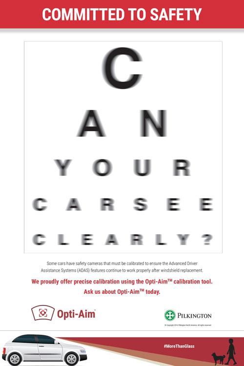 Auto Glass Camera Calibration Poster