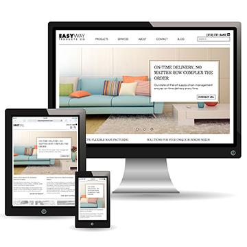Responsive website screenshots