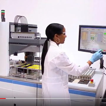 Still from scientific equipment product demo video