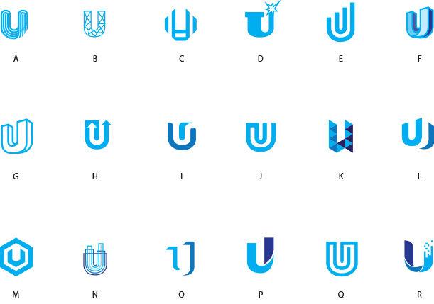 Thumbnail images of logo marks