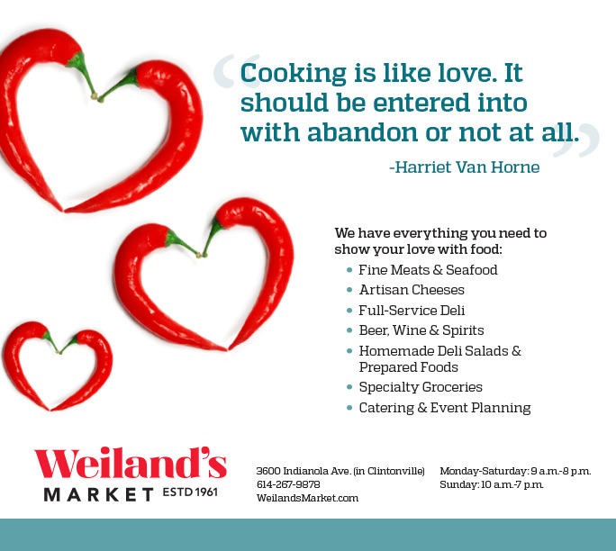 Valentine's Day ad for local grocery store