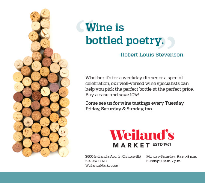 Wine ad for local grocery store