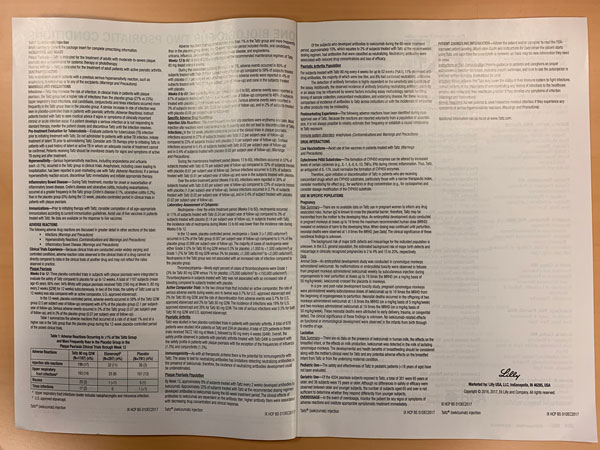 Print ad showing bad use of white space